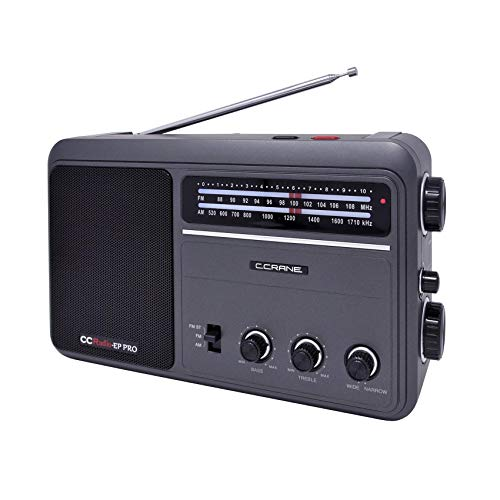 C. Crane CCRadio - EP PRO AM FM Battery Operated Portable Analog Radio with DSP (Listen To Mlb Playoffs On The Radio)