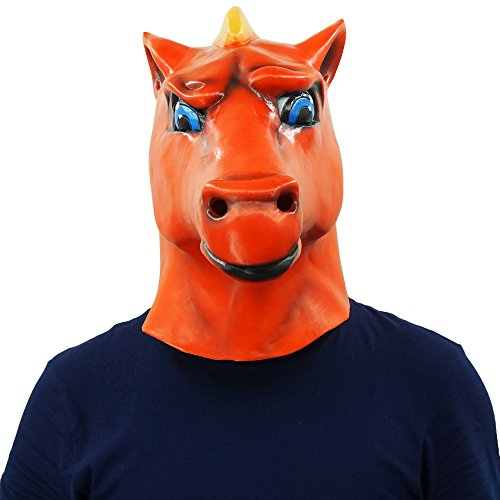 Red Horse Head Mask Animal Party Helmet Cosplay Halloween Props by Lucky Lian (Image #2)