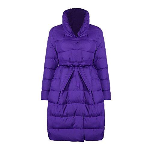 Jacket Coat Clearance OYSOHE Long Womens Outwear Winter Warm Belt Fashion Cotton Parka Thicker Purple wBBXqC1