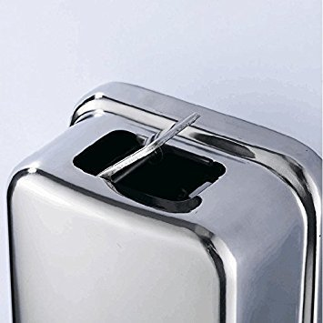 Amazon.com: Dosificador De Jabon Liquido De Acero Inoxidable - Dispensador De Jabon Liquido Para Montar En Pared: Home & Kitchen
