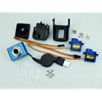 Shanhai Web Cam with Mini Servo, Servo Fixture for Real Time Video, 3-Axis Servo Kit Web Camera for PCDUNIO
