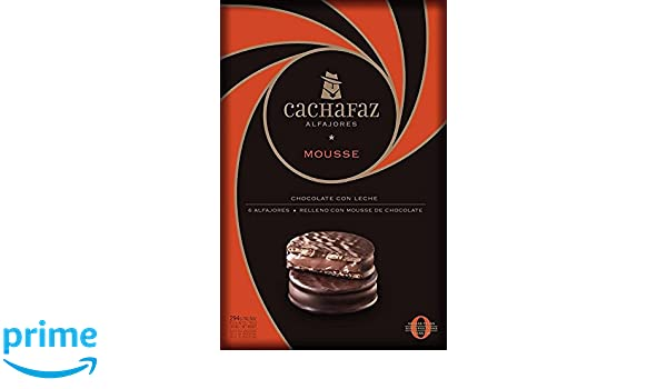 Amazon.com : Alfajores Cachafaz Chocolate Mousse & covered with chocolate (6 Units) 2 PACK : Grocery & Gourmet Food