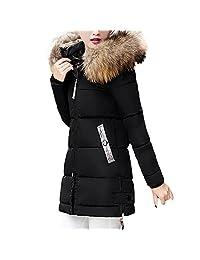 Sumen Women Winter Down Slim Hooded Warm Parka Long Jacket Coat