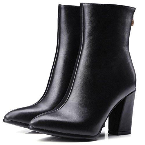 Fashion Shoes Boots Heel High Black KemeKiss Block Women's Ankle 0AYxSqA5n
