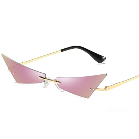 Yangjing-hl Mujeres Hombres Moda Chic Polígono pequeño Gafas ...