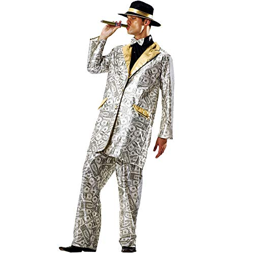 Boo Inc. Men's Money Suit Halloween Costume | Gangster Outfit (XL)