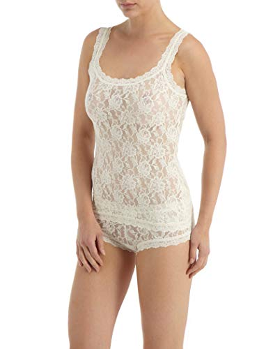 Hanky Panky Women's Signature Lace Unlined Cami Ivory Tank Top SM (Mesh Camisole)