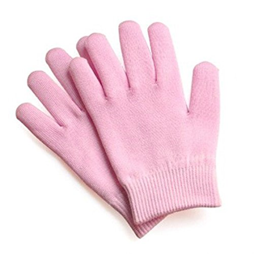 SODIAL(R) Beauty SPA Gloves Moisturizers Gel Therapy Skin Care - Pink