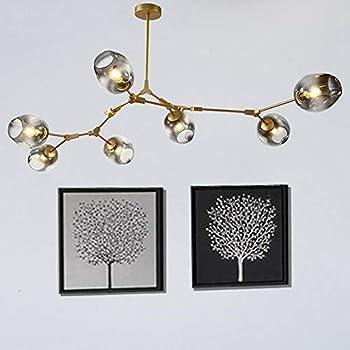 Amazon.com: Nordic Postmodern Molecular lámpara de araña con ...