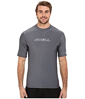 Oceanic O'neill Men's UV Sun Protection Short Sleeve Rash Guard Tee, Solid Grey, X-Large (B0748J4V6H) | Amazon price tracker / tracking, Amazon price history charts, Amazon price watches, Amazon price drop alerts