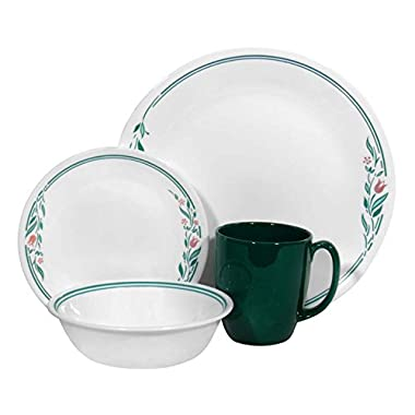 Corelle Livingware 16 piece Dinnerware Set, Service for 4, Rosemarie