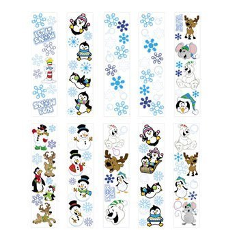 100 Winter Sticker Sheets ~ 8 to 14 Stickers Per Sheets ~ Sticker Size: 1/2