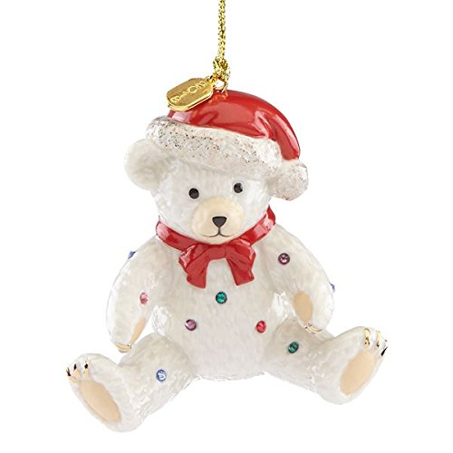 - 2018 Holiday Gems Teddy Bear Ornament by Lenox