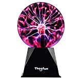 Plasma Ball, Theefun 6 Inch Touch & Sound Sensitive Plasma Lamp, Nebula Sphere Plasma Globe Novelty Toy for Decorations/Kids/Bedroom