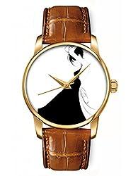 Bling Jewelry Geneva Gold Plated Classic Round CZ Ladies Boyfriend Watch