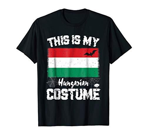 This is My Halloween Hungarian Costume T-Shirt Hungary Flag -