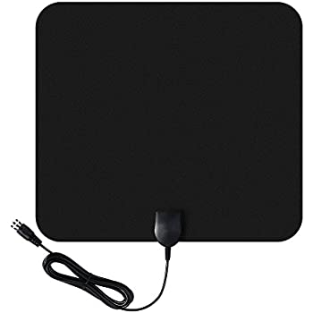 Homasy TV Antenna indoor Amplified HDTV Antenna 50 Mile Range with Amplifier Signal Booster