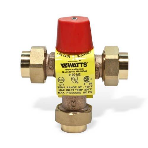 NEW Watts Lead Free 3//4 LFMMVM1-UT Brass Thermostatic Mixing Valve Threaded 3//4