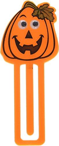 Family Friendly Halloween Pumpkin Bookmark Party Favour, Plastic, 3