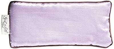 Spa Comforts Eye Pillow, Aromatherapy Lavender, Wellness and Reaxation, Soothing Stress and Headache Relief, Two-Tone Lavender/Chocolate Brown
