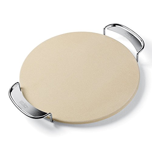 Pizza Stone with Carry Rack 14 in. Diameter