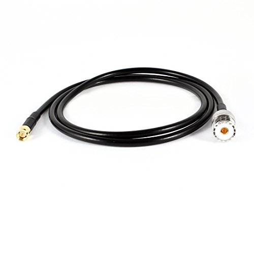 SaferCCTV(TM)3ft RF Antenna Extension Cable,UHF to SMA Cable RG58 Adapter,UHF Female SO239 to SMA Male Straight Pigtail Connector Cable for Most Yaesu/ Lcon/ Alinco/ KenwoodWouxun/ TYT Amateur Radios
