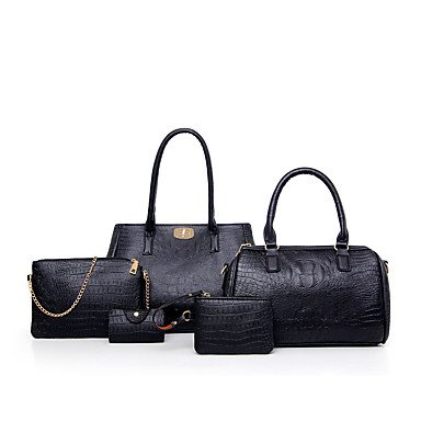 Las mujeres de moda clásica bolsa Crossbody, negro Ruby