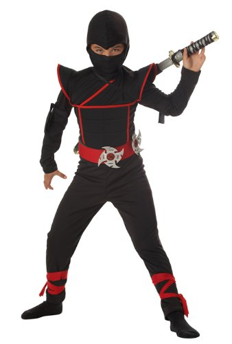 Stealth Ninja Boys Halloween Costume Small