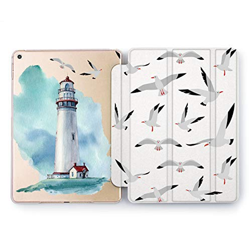 Wonder Wild Lighthouse iPad Case 9.7 Pro inch Mini 1 2 3 4 Air 2 10.5 12.9 2018 2017 Design 5th 6th Gen Clear Print Smart Hard Cover Seagull Birds Watchtower Direction Pointer Flyers Colorit Coast