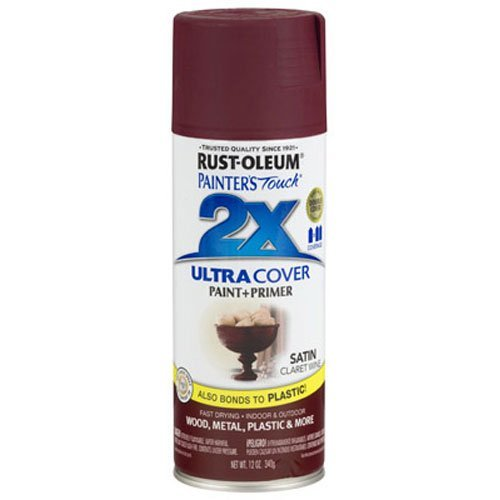 Rust-Oleum 249083 Painter's Touch Multi Purpose Spray Paint, 12-Ounce, Satin Claret Wine (Rust Colors Oleum)