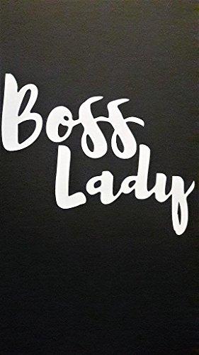 Boss Lady Feminist Feminism Vinyl Decal Sticker|WHITE|Cars Trucks Vans SUV Laptops Wall Art|5.5