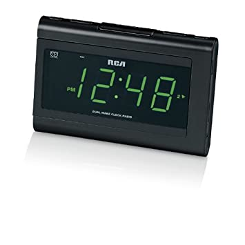 RCA RC141 Reloj Digital Negro - Radio (Reloj, Digital, FM, LED,