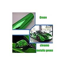 "HOHO Green Chrome Metalic Mirror Vinyl For Car Body Wrap Film 60""X20"""