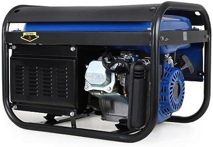 EBERTH 3000W Generador de corriente (Motor de gasolina de 4 tiempos y 6,5 CV, 2x 230 V, 1x 12 V, Arranque rectractil, Regulación de voltaje AVR, Voltímetro): Amazon.es: Bricolaje y herramientas