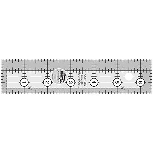 Creative Grids 1.5 x 6.5 Rectangle Quilting Ruler Template CGR1565