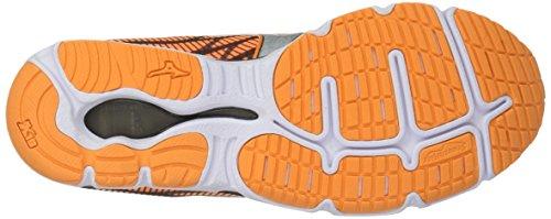 Mizuno Womens Vague Hitogami 4 Chaussure De Course Orange / Gris