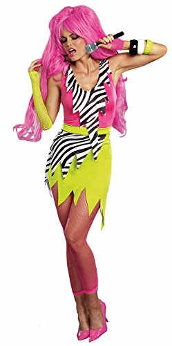 Dreamgirl Women's 80's Punk Glam Gem Jagged Rock Star DIY Costume, Multi, -