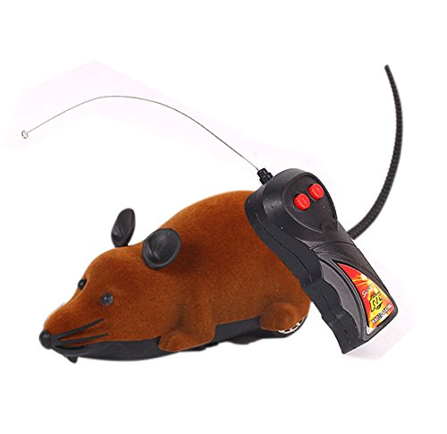 Rat Toy, PeachFYE RC Funny Wireless Electronic Remote Control Mouse Rat Pet Toy For Cats Dogs Pets Kids Novelty Gift ()