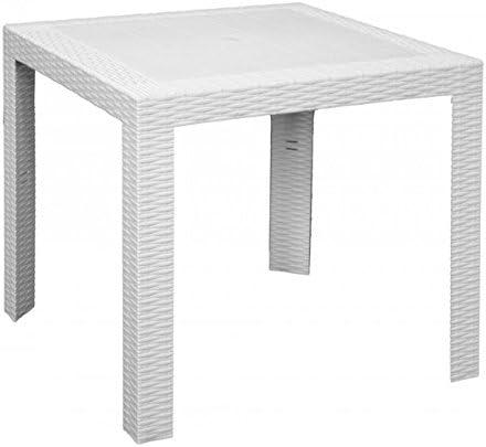 Tavoli E Sedie Per Esterno Bar Usati.Tavolo Tavolino 80x80cm Bianco In Resina Per Esterno Bar Arredo