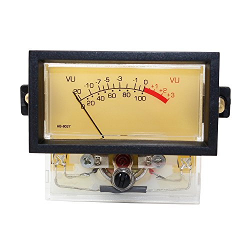 Audio Power Amplifier Panel VU Meter Amplifier Table DAC DB Power Sound Level Meter with Backlight