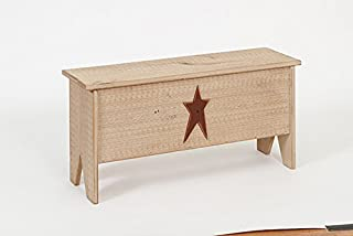 product image for Furniture Barn USA Primitive Rustic Country Small Wooden Treasure Chest-Sea Foam Green