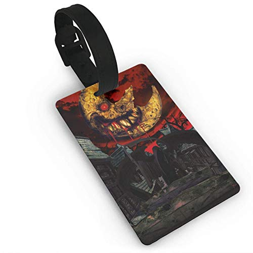 Halloween Bloody Moon,Suitcase,Travel Accessories Baggage Name Tags Travel Luggage Tag ID Identification Labels