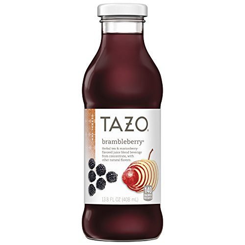Tazo Brambleberry Iced Tea, 13.8 Ounce Glass Bottles, 8 Count