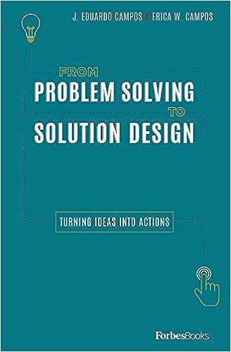 From Problem Solving To Solution Design Turning Ideas Into Actions Campos J Eduardo Campos Erica W 9780998365565 Amazon Com Books