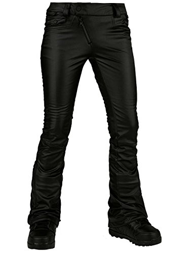 Volcom Snow Women's Battle Faux Leather Pants Black Small by Volcom