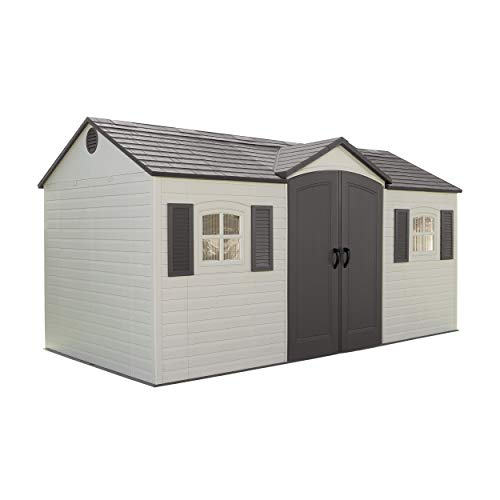 Lifetime 6446 Outdoor Storage Shed with Shutters