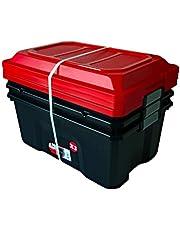 Faites des économies sur Sundis 4552002 Lot de 3 Malles de Rangement Locker, Plastique, Noir/Rouge, 3x60L et plus encore
