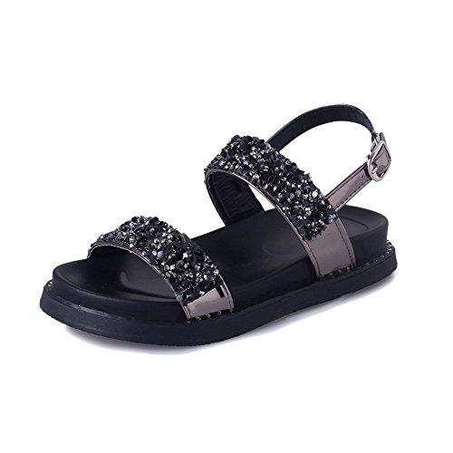 Femminile Moda Scarpe Amazing Romane Beach Estate B cn36 Eu36 A colore uk4 Shoes fondo Sandali Spessa Dimensioni Strass qvgHX
