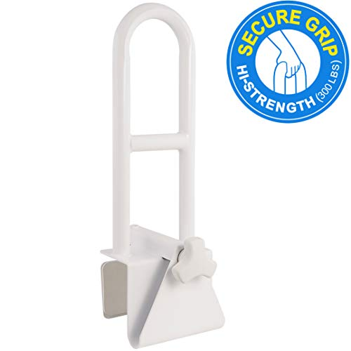 Adj Stool - Medical Adjustable Bathtub Safety Rail Shower Grab Bar Handle