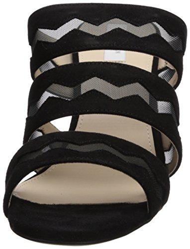 Cole Haan Women's Emilia High Slide Sandal Black Suede YvcZkE